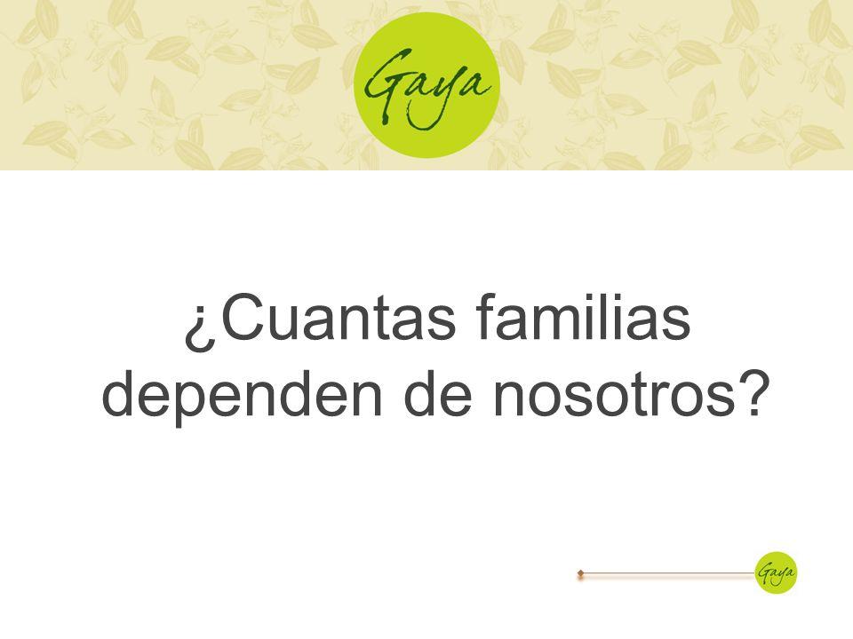 ¿Cuantas familias dependen de nosotros