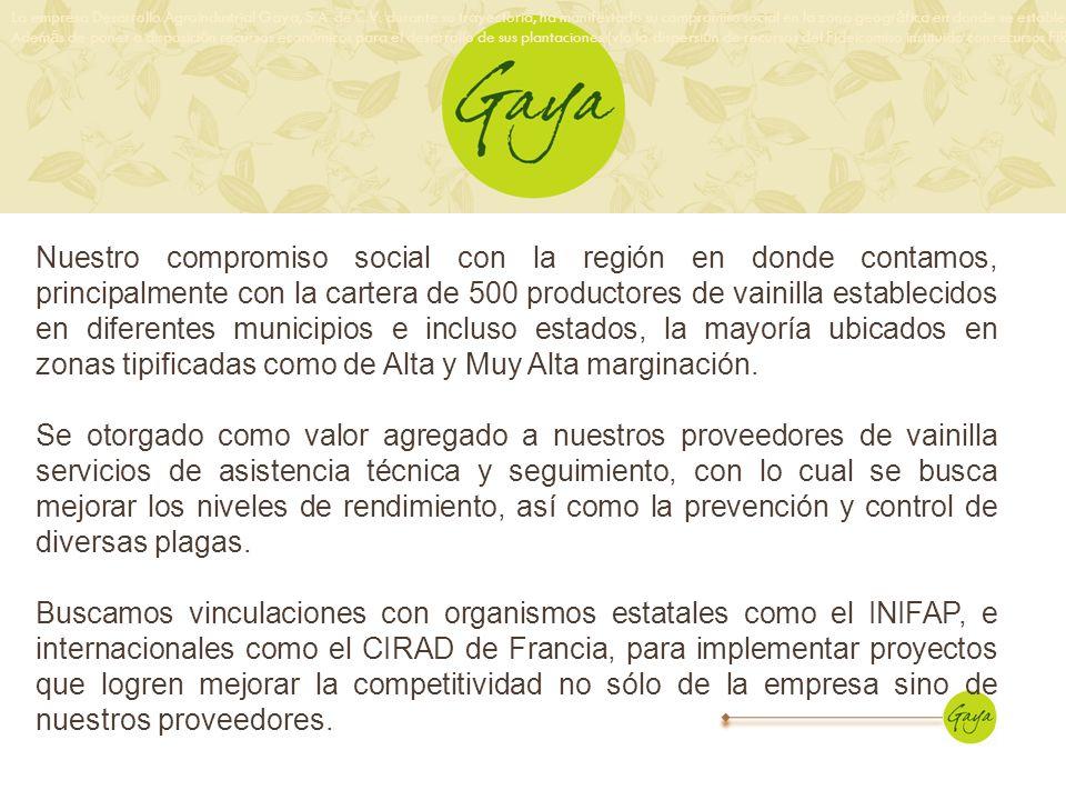 La empresa Desarrollo Agroindustrial Gaya, S. A. de C. V