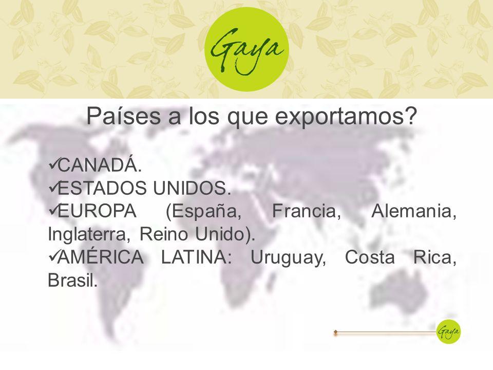 Países a los que exportamos