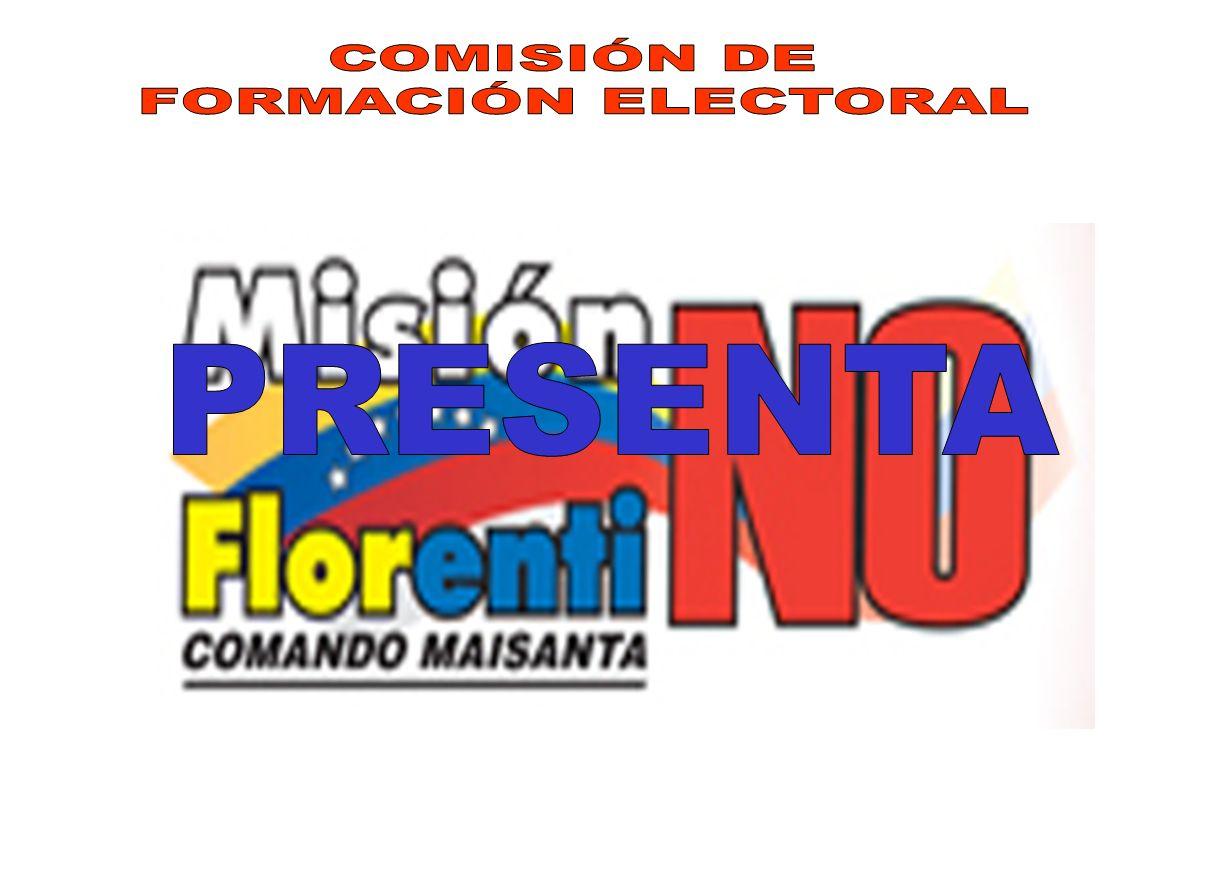 COMISIÓN DE FORMACIÓN ELECTORAL PRESENTA