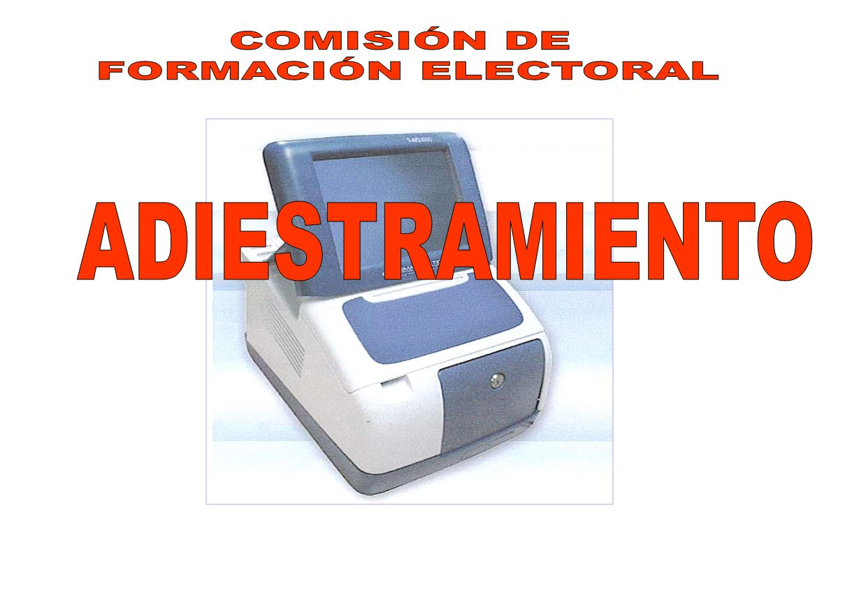COMISIÓN DE FORMACIÓN ELECTORAL ADIESTRAMIENTO