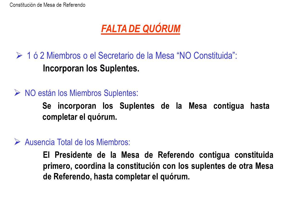 Constitución de Mesa de Referendo