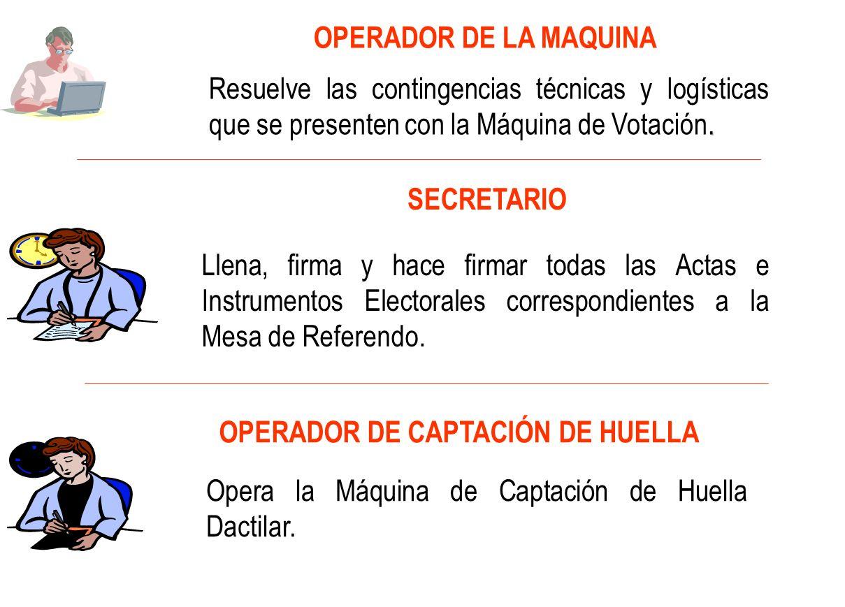 OPERADOR DE CAPTACIÓN DE HUELLA