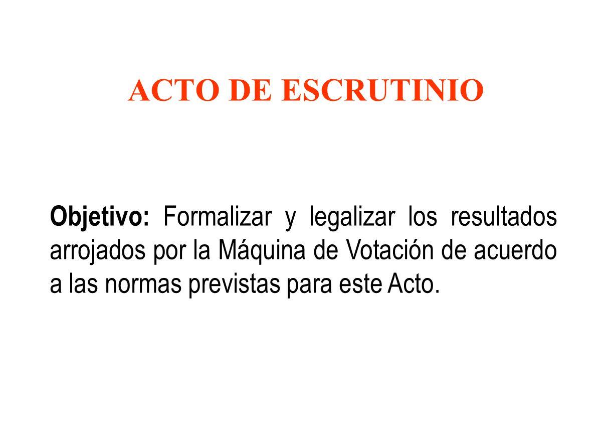 ACTO DE ESCRUTINIO