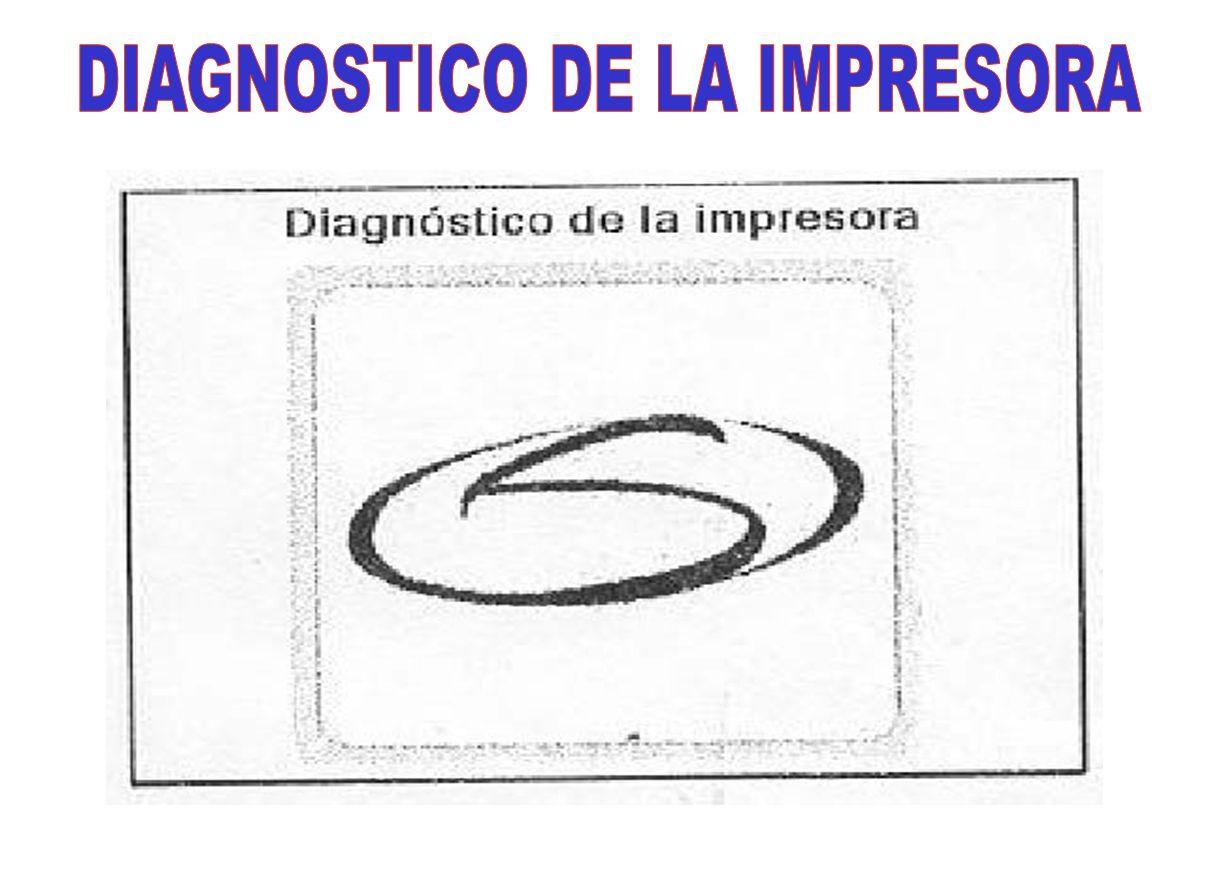 DIAGNOSTICO DE LA IMPRESORA