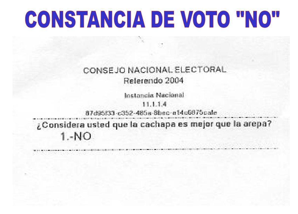 CONSTANCIA DE VOTO NO