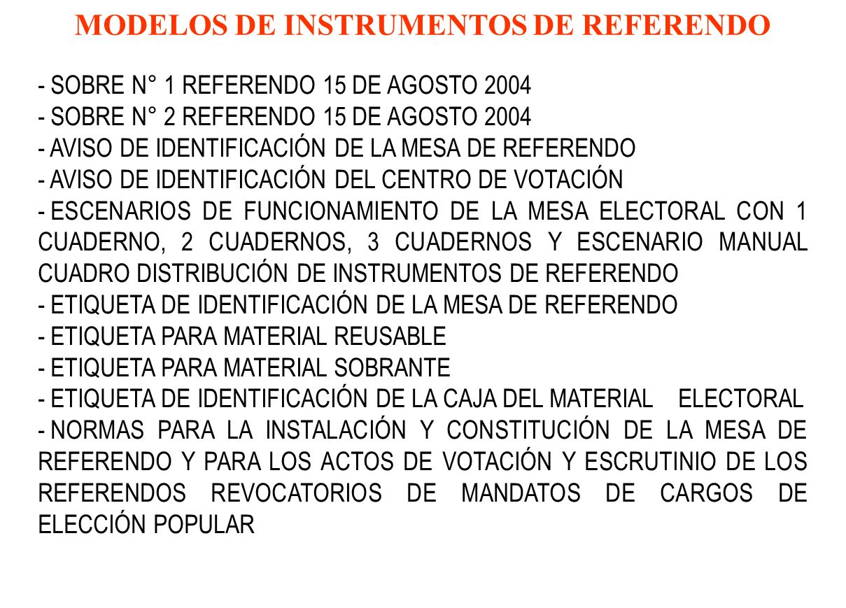 MODELOS DE INSTRUMENTOS DE REFERENDO