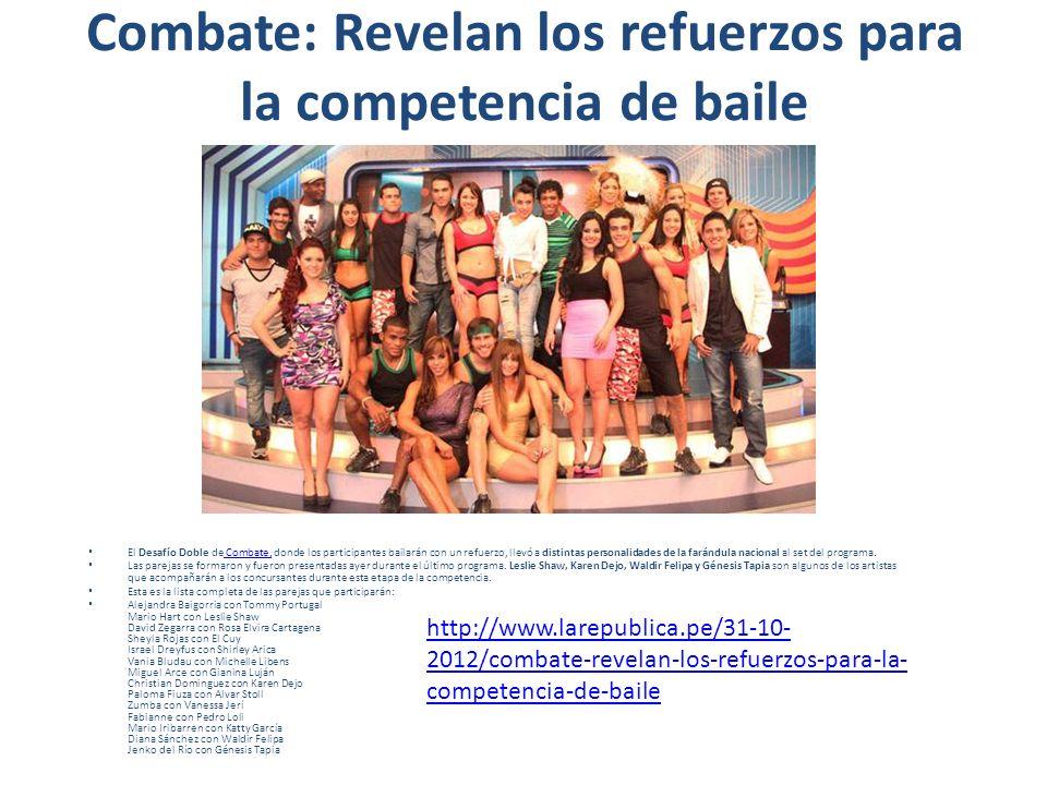 Combate: Revelan los refuerzos para la competencia de baile