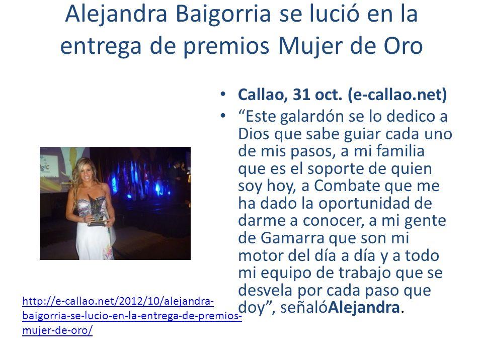 Alejandra Baigorria se lució en la entrega de premios Mujer de Oro