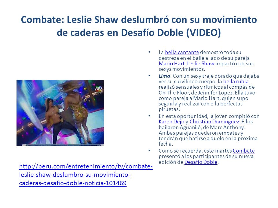 Combate: Leslie Shaw deslumbró con su movimiento de caderas en Desafío Doble (VIDEO)