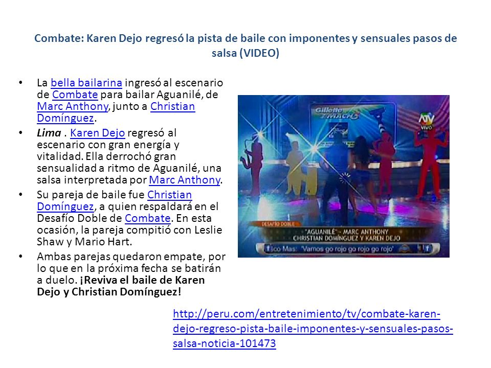 Combate: Karen Dejo regresó la pista de baile con imponentes y sensuales pasos de salsa (VIDEO)
