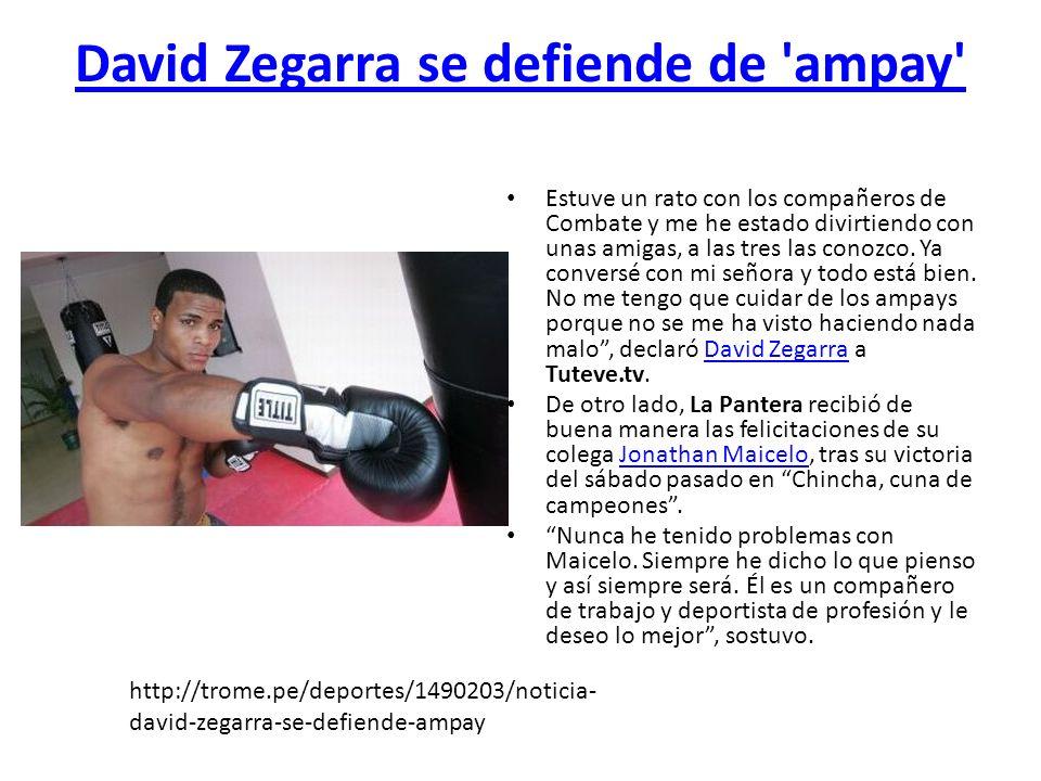 David Zegarra se defiende de ampay