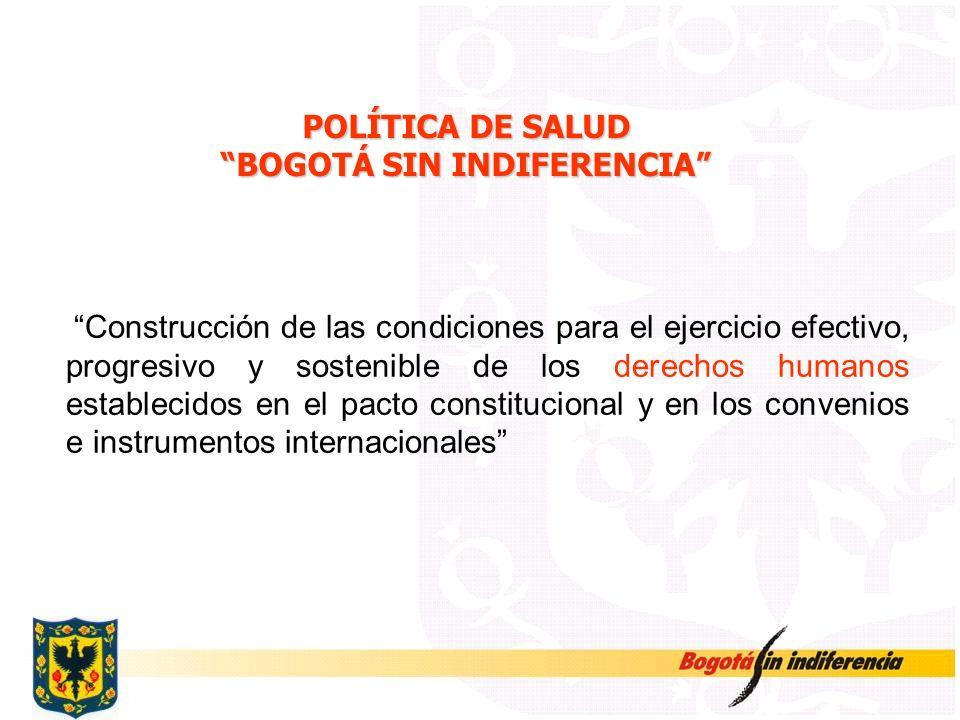 POLÍTICA DE SALUD BOGOTÁ SIN INDIFERENCIA
