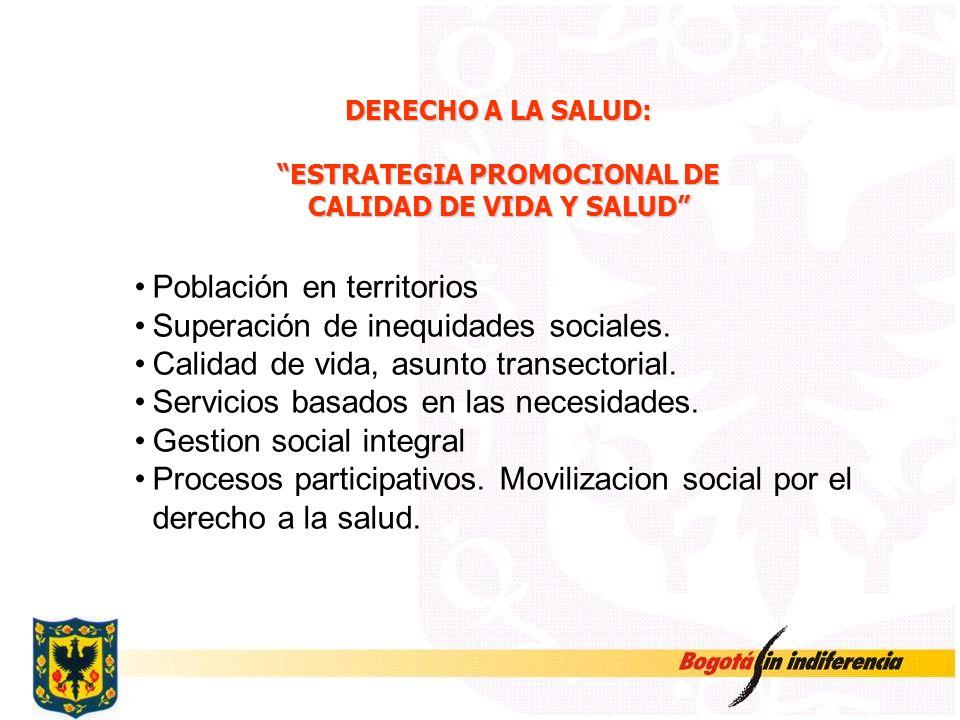 ESTRATEGIA PROMOCIONAL DE CALIDAD DE VIDA Y SALUD