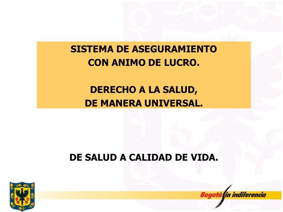 SISTEMA DE ASEGURAMIENTO DE SALUD A CALIDAD DE VIDA.