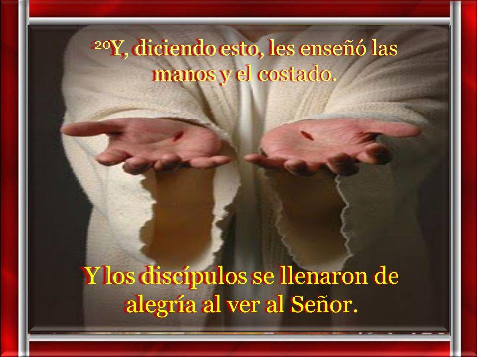 Y los discípulos se llenaron de alegría al ver al Señor.