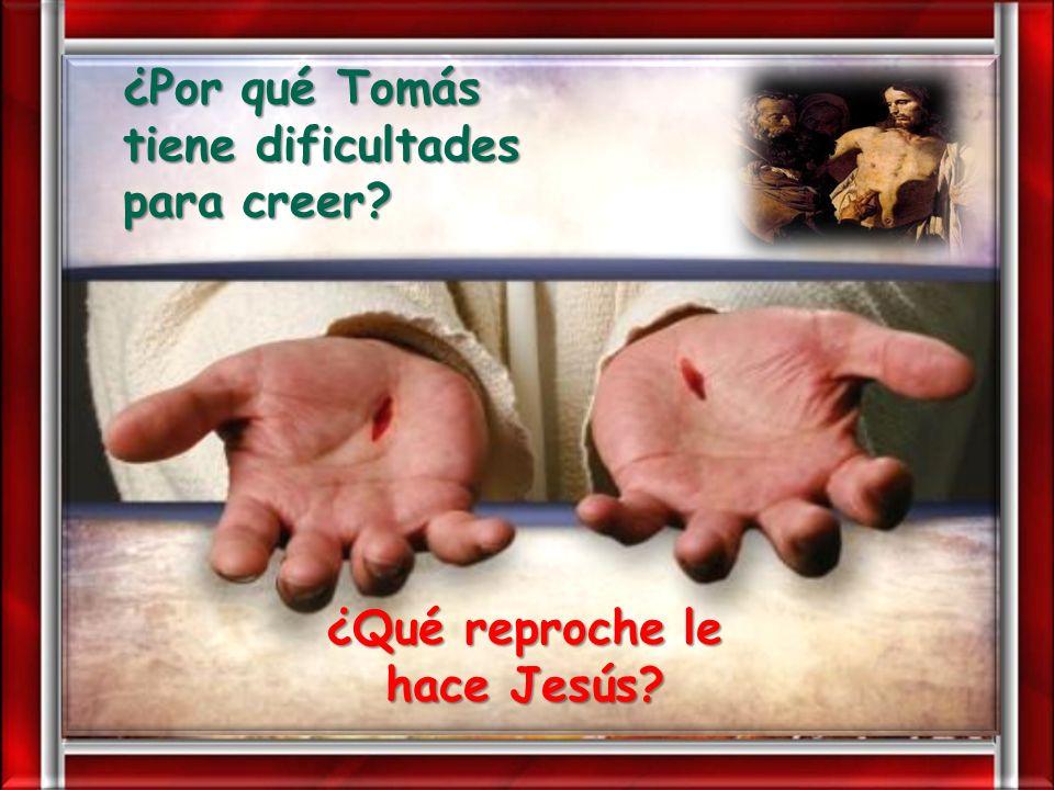 ¿Qué reproche le hace Jesús