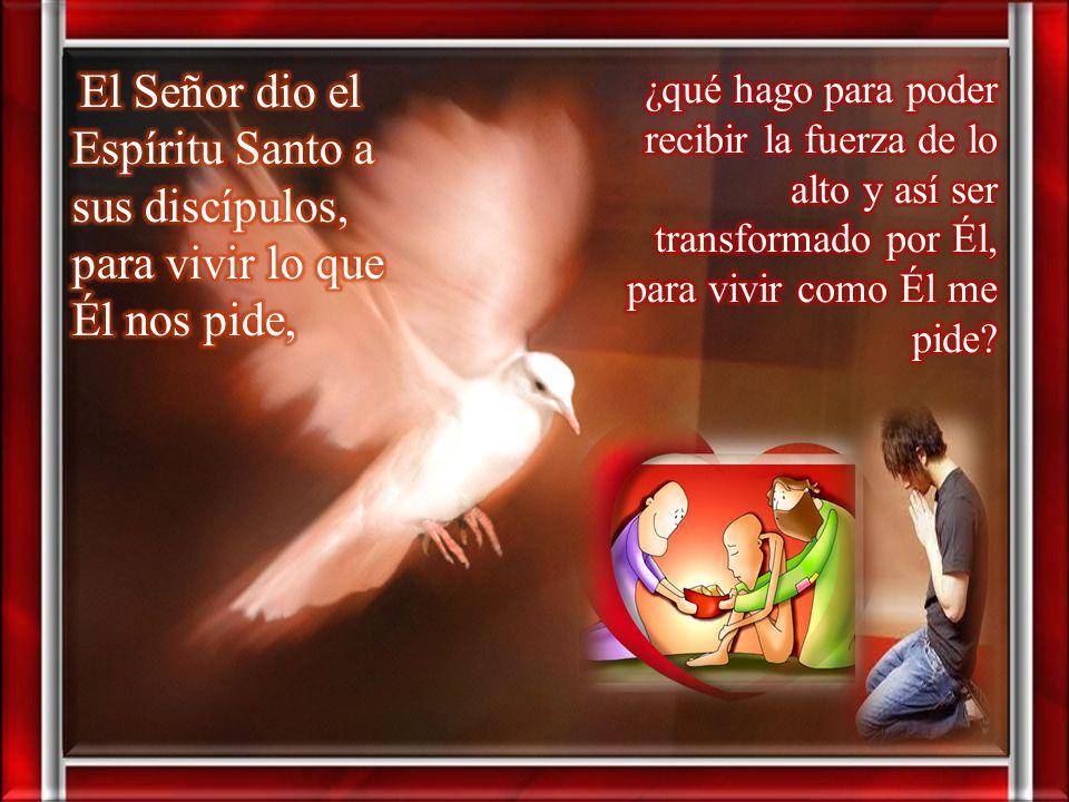 El Señor dio el Espíritu Santo a sus discípulos, para vivir lo que Él nos pide,