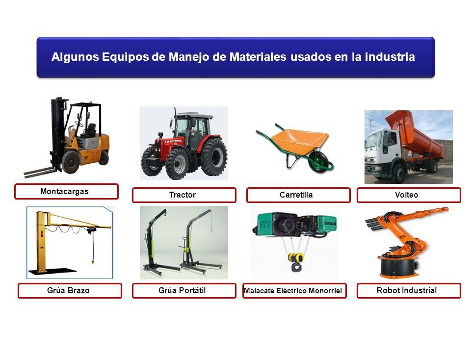 Algunos Equipos de Manejo de Materiales usados en la industria