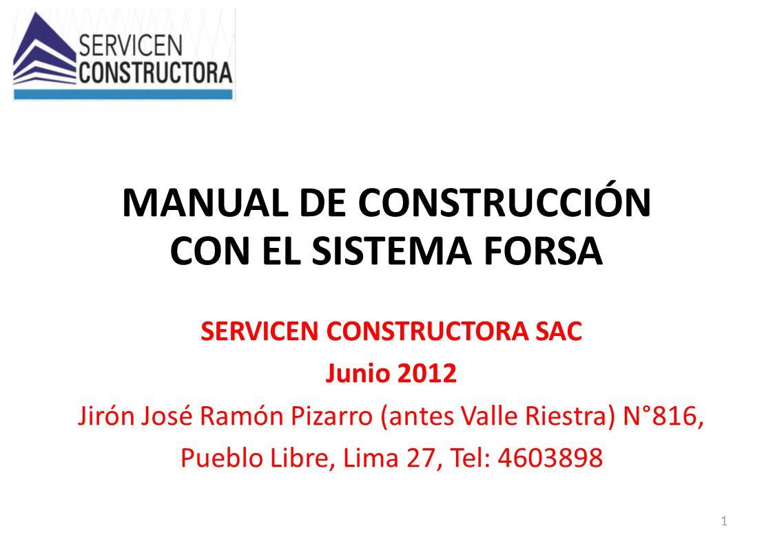MANUAL DE CONSTRUCCIÓN CON EL SISTEMA FORSA