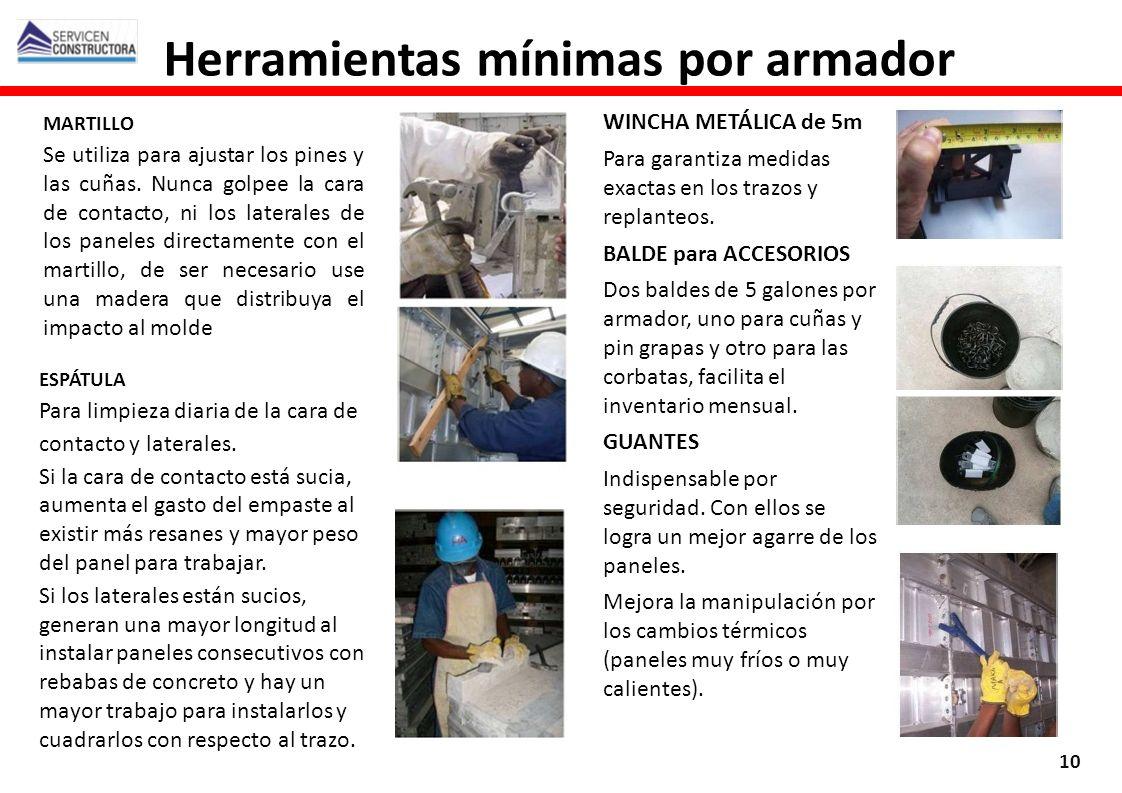 Herramientas mínimas por armador