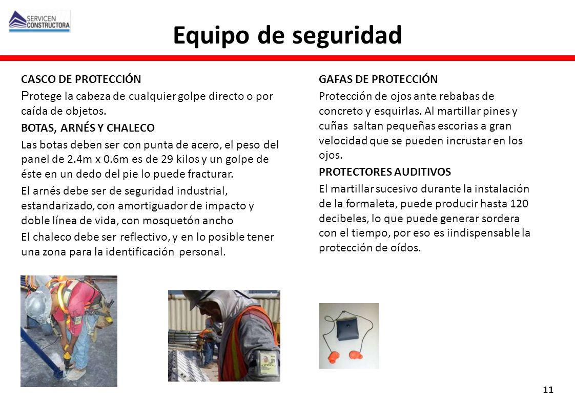 Equipo de seguridad CASCO DE PROTECCIÓN