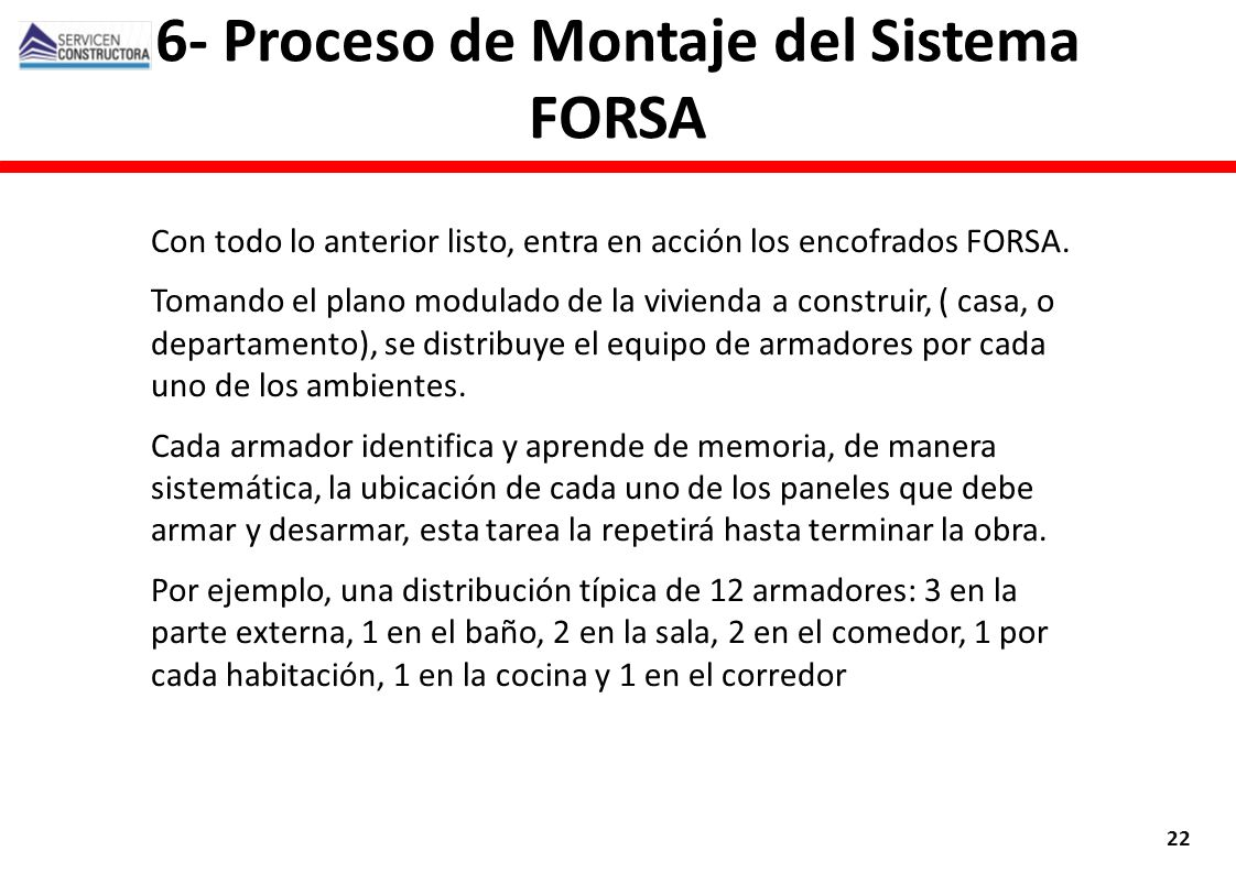 6- Proceso de Montaje del Sistema FORSA