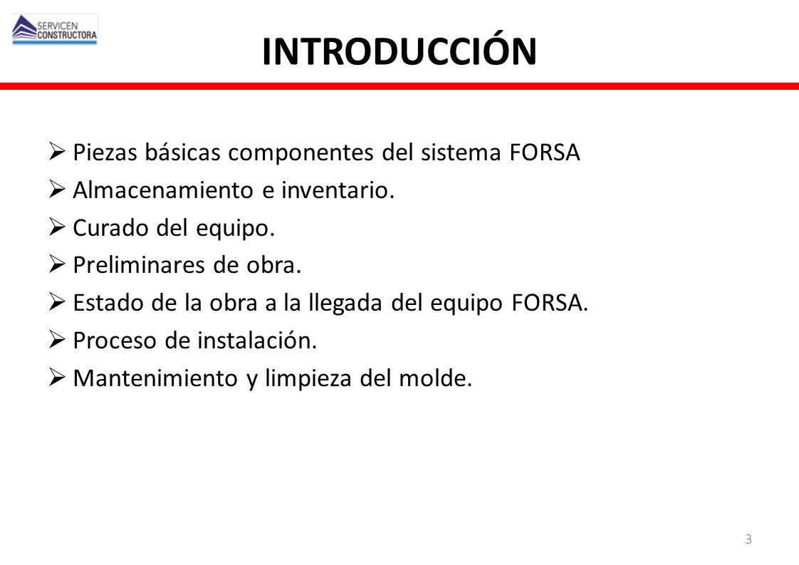 INTRODUCCIÓN Piezas básicas componentes del sistema FORSA