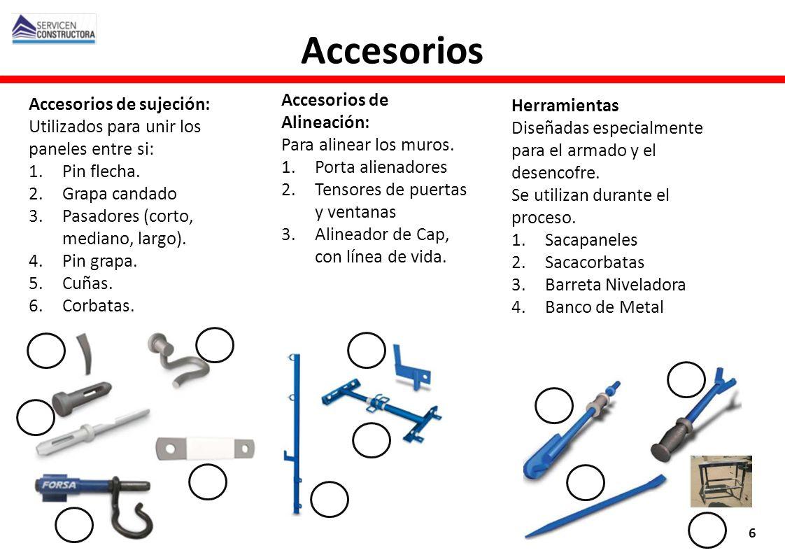 Accesorios Accesorios de Alineación: Accesorios de sujeción: