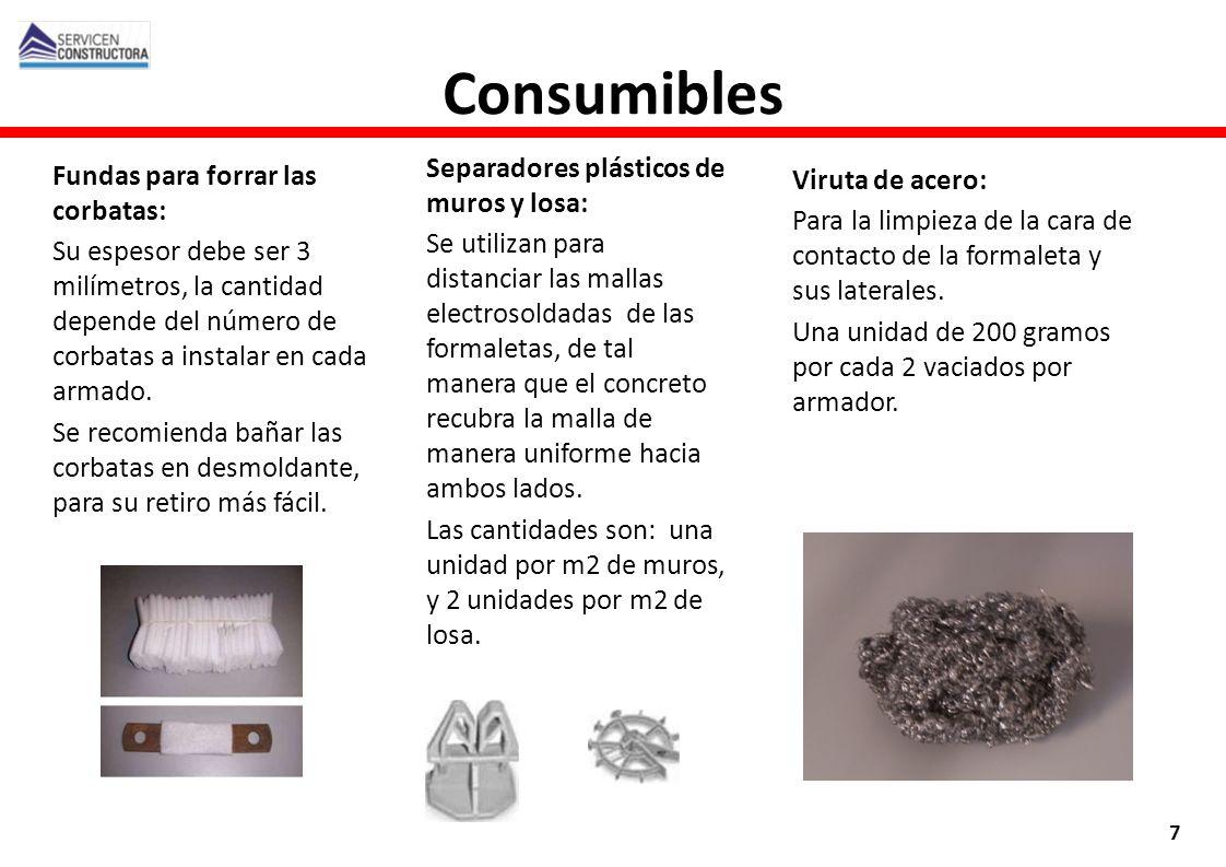 Consumibles Separadores plásticos de muros y losa:
