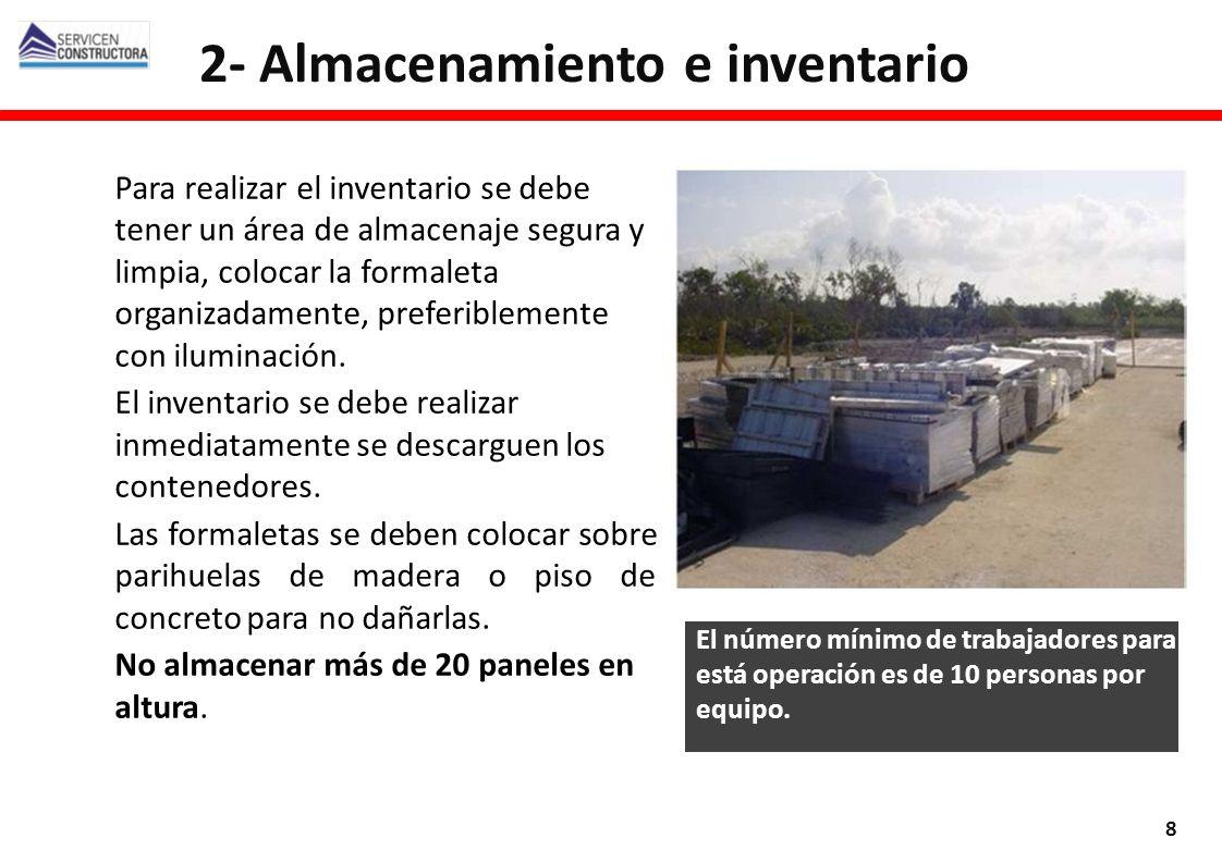 2- Almacenamiento e inventario