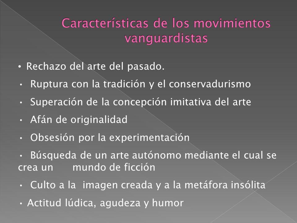 Características de los movimientos vanguardistas