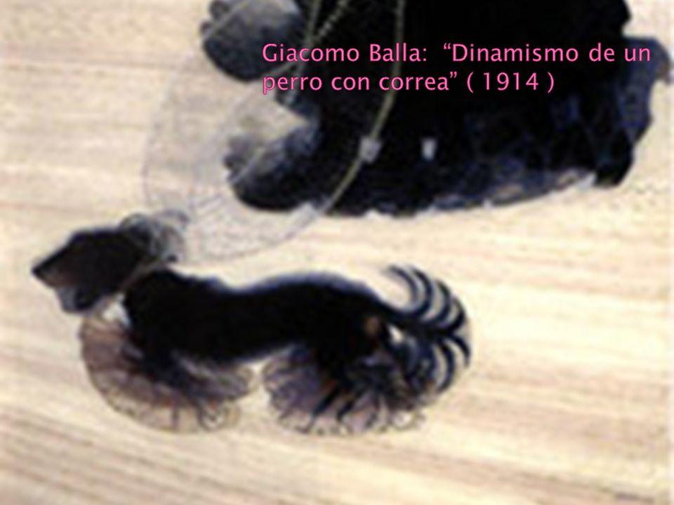 Giacomo Balla: Dinamismo de un perro con correa ( 1914 )