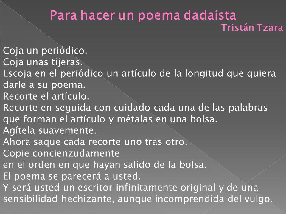 Para hacer un poema dadaísta