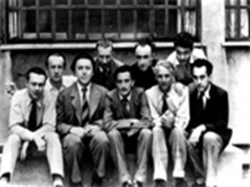 El grupo surrealista en París, 1930. De izq. A der. T