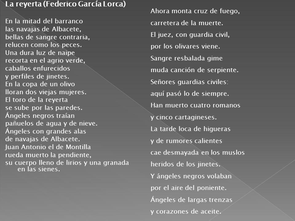La reyerta (Federico García Lorca)