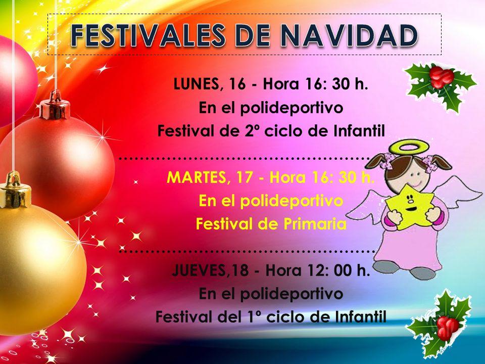 FESTIVALES DE NAVIDAD