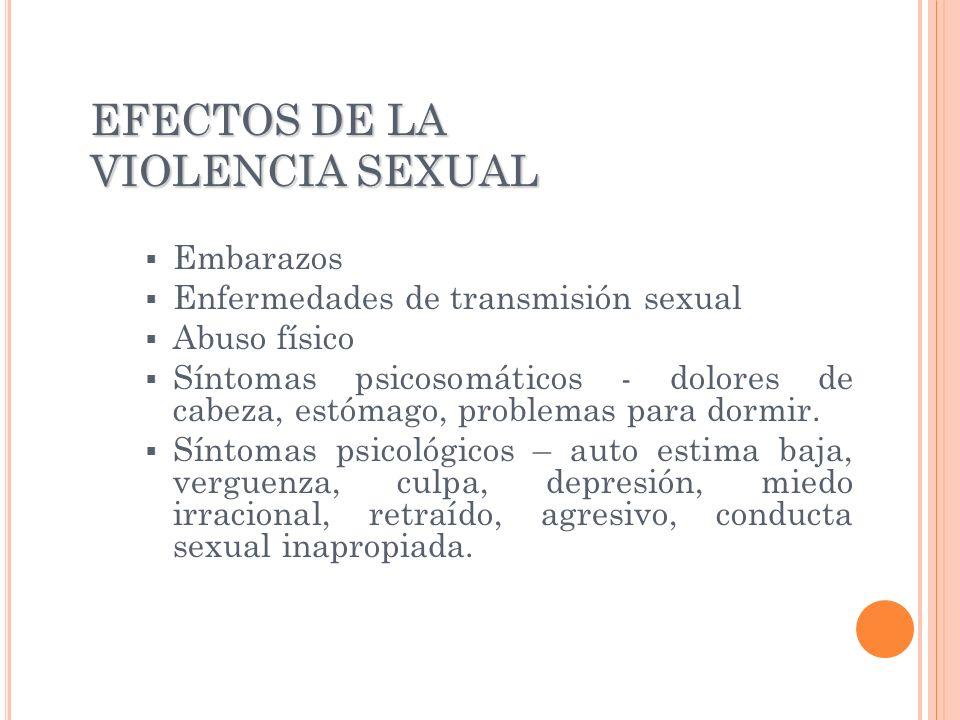 EFECTOS DE LA VIOLENCIA SEXUAL