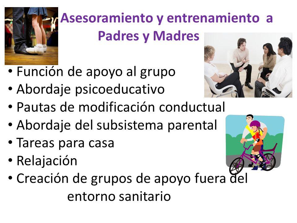 Asesoramiento y entrenamiento a Padres y Madres