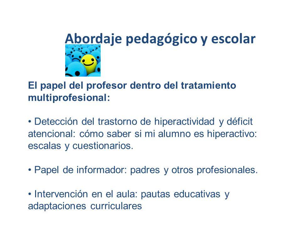 Abordaje pedagógico y escolar