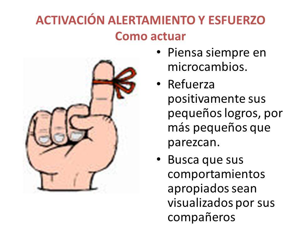 ACTIVACIÓN ALERTAMIENTO Y ESFUERZO Como actuar