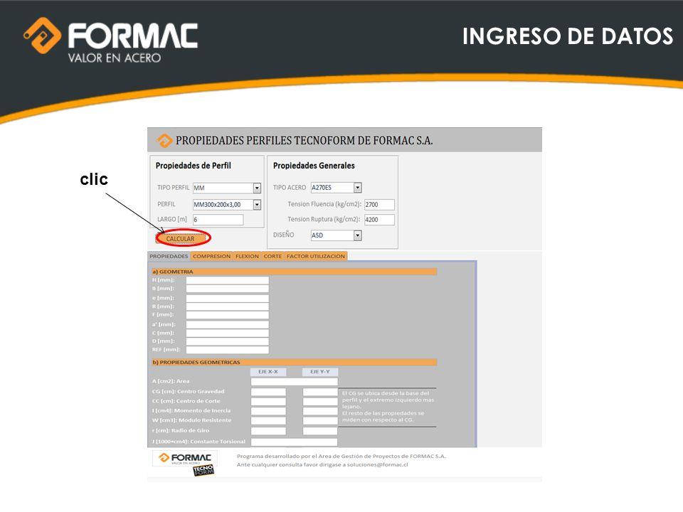 INGRESO DE DATOS clic
