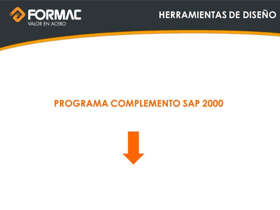 HERRAMIENTAS DE DISEÑO PROGRAMA COMPLEMENTO SAP 2000