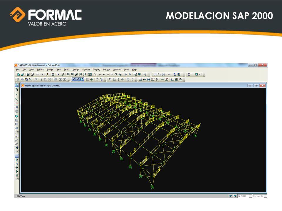 MODELACION SAP 2000