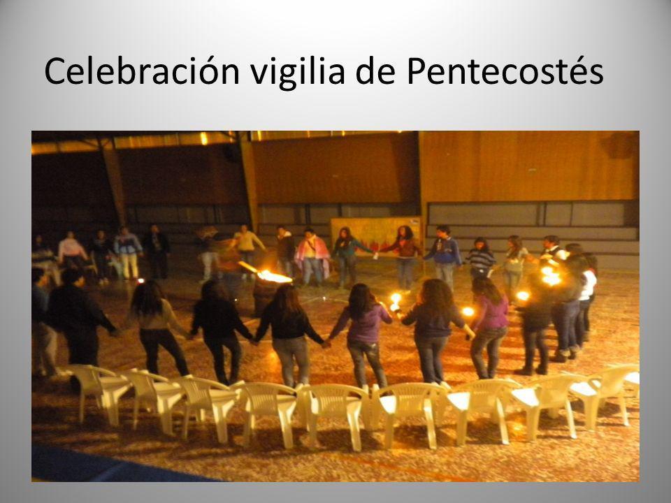 Celebración vigilia de Pentecostés