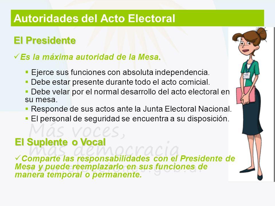 Autoridades del Acto Electoral