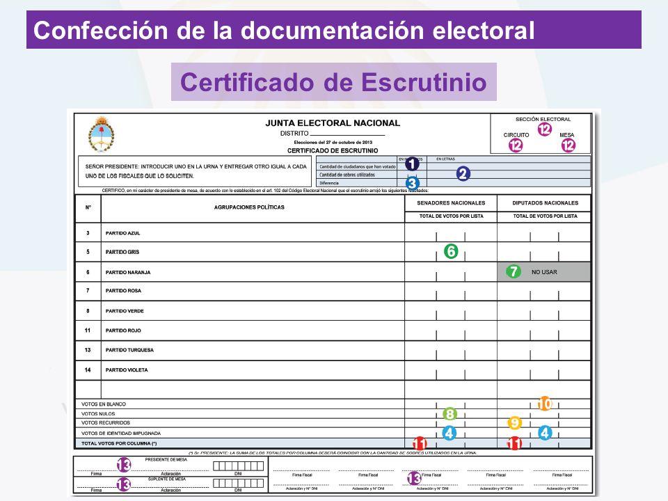 Certificado de Escrutinio