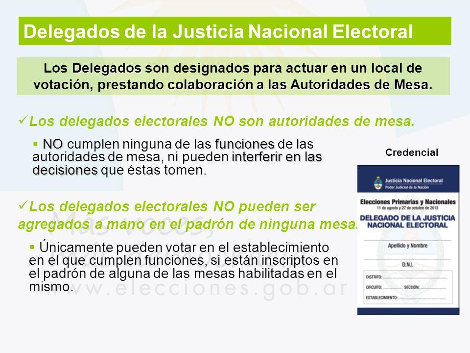 Delegados de la Justicia Nacional Electoral