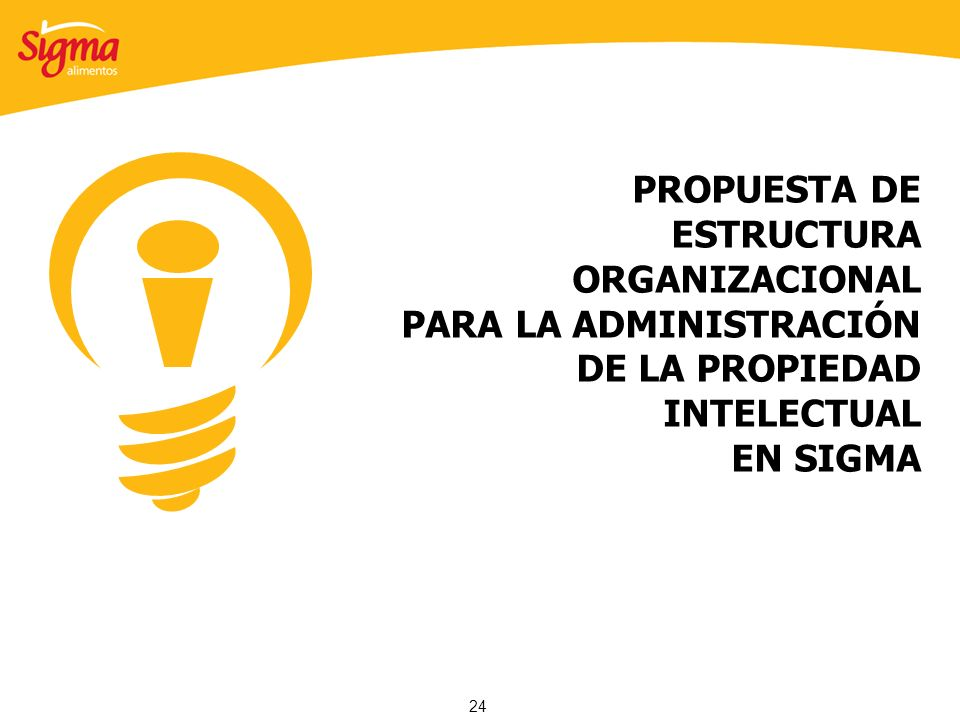 PROPUESTA DE ESTRUCTURA ORGANIZACIONAL PARA LA ADMINISTRACIÓN DE LA PROPIEDAD INTELECTUAL EN SIGMA