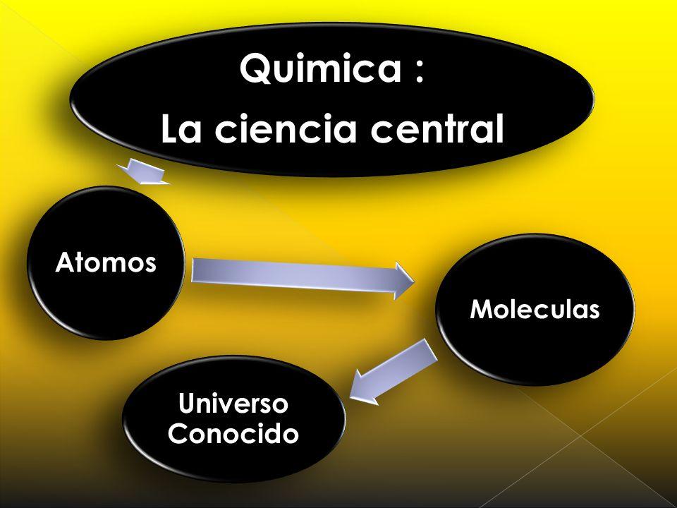 La ciencia central Quimica : Atomos Moleculas Universo Conocido